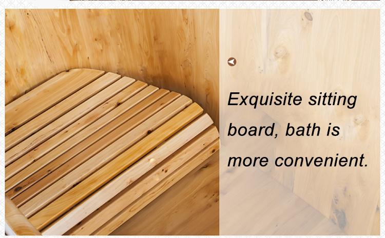 Handgefertigte Freistehende Badewanne Aus Holz Für Den Innenbereich