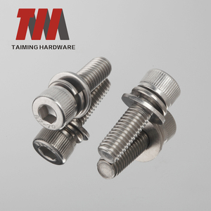 din 912 Customized Stainless 304 Hex Socket head Cap Knurling Machine Screws
