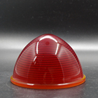 High quality machine pressure red glass lamp shade\signal lamp shade