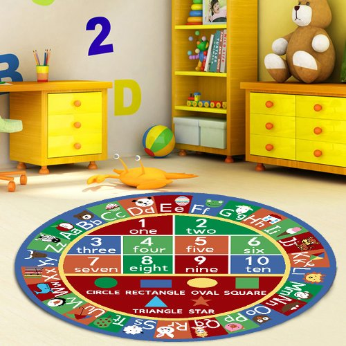 Buy Furnish My Place Kids Rug Abc Alphabet Numbers And Shapes