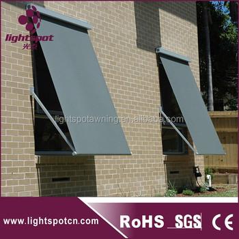 Outdoor Motorized Drop Arm Window Awning Sunshade