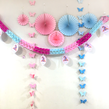 Paper fan paper garland paper honeycomb ball party supplies birthday party decorations