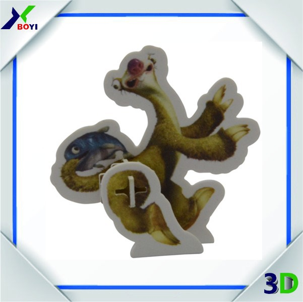 3D Giveaway Puzzle Cards, Children DIY Plastic Puzzle Card ,DIY Card For Snake Foods