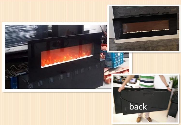 wand dekor flamme gehärtetem glas elektrischen kamin-Elektrischer ...