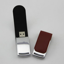 Fashion Leather Usb Flash Drive 64Gb Pen Drive 32Gb Real Capacity Memory Stick Disk 8Gb 16Gb Storage Device Pendrive