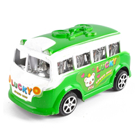 Wholesale 4pcs plastic kids cartoon pull back toy bus