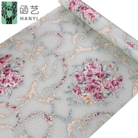 Wholesale factory wall paper sticker pvc wallpaper self adhesive flower 45 cm