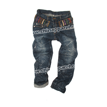 Custom Logos Mens Denim Printed Jeans Exported To Worldwide - Buy Denim  Printed Jeans,Dark Washing Export Denim Jeans,Customized Printed Jeans  Product