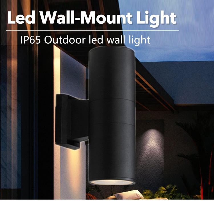 Good quality aluminum  RGB color 3 5 6 7 9 12 15 18watt outdoor IP65 COB led wall light