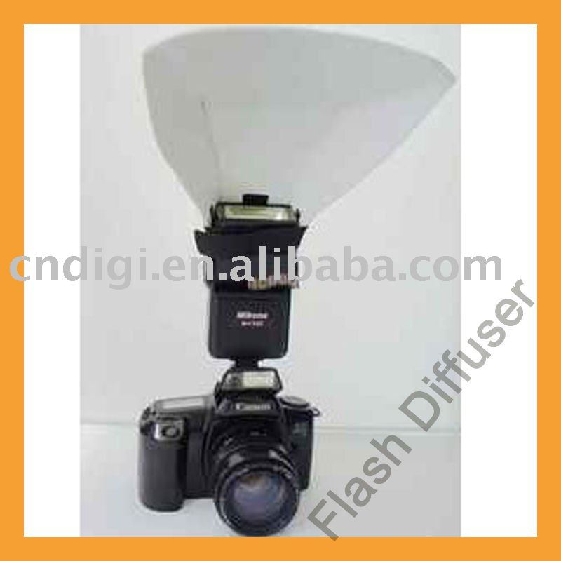 SP-51671 Small Size White Plastic Camera Flash Diffuser For Ordinary Cameras