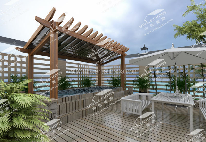 6 Eco Friendly Diy Homes Built For 20k Or Less: Waterproof Aluminum Pergola Canopy Roof Awning,Used