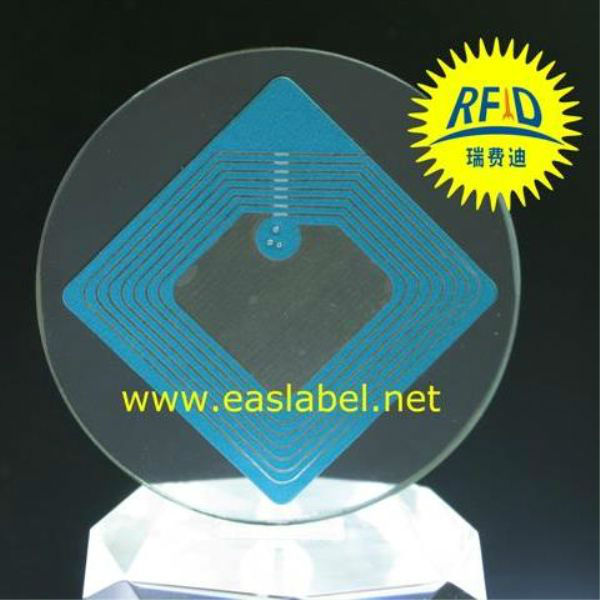 eas soft tags retail rf roll label 8.2MHz 404 blue ink color