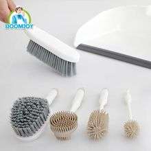 Eco-friendly household brush and dustpan set for table and kitchen cleaning
