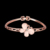 Wholesale Fashion wild female popular rose gold Bangle opal butterfly charm bracelet jewelry
