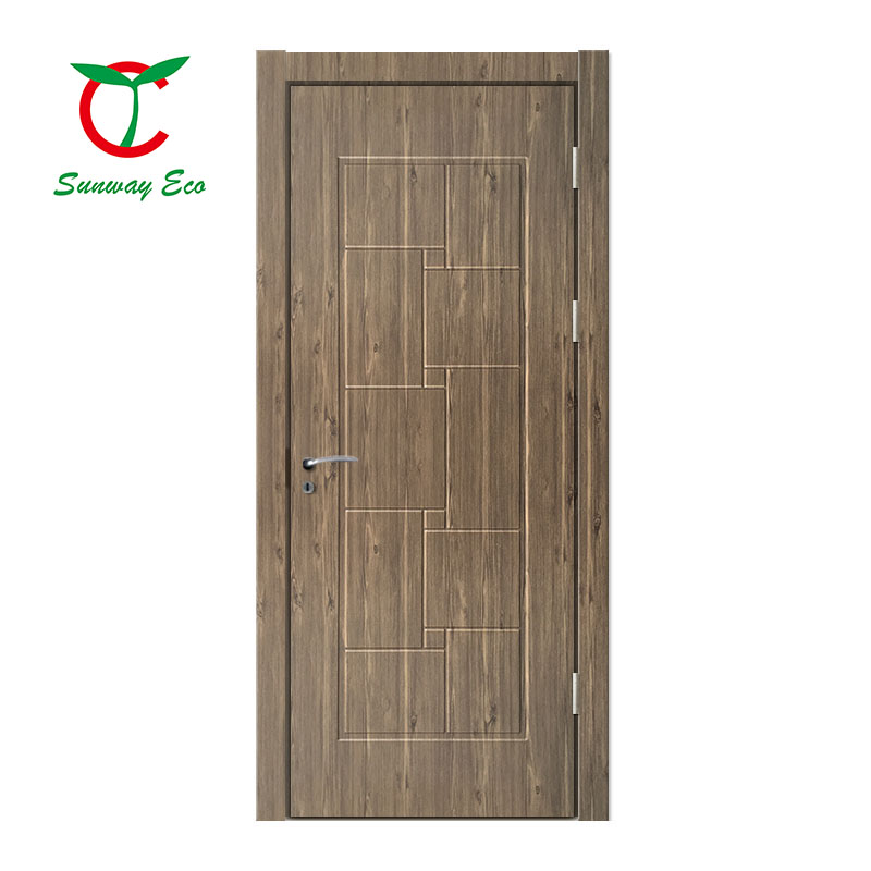 2020 modern style eco-friendly white color  wood plastic composite interior door