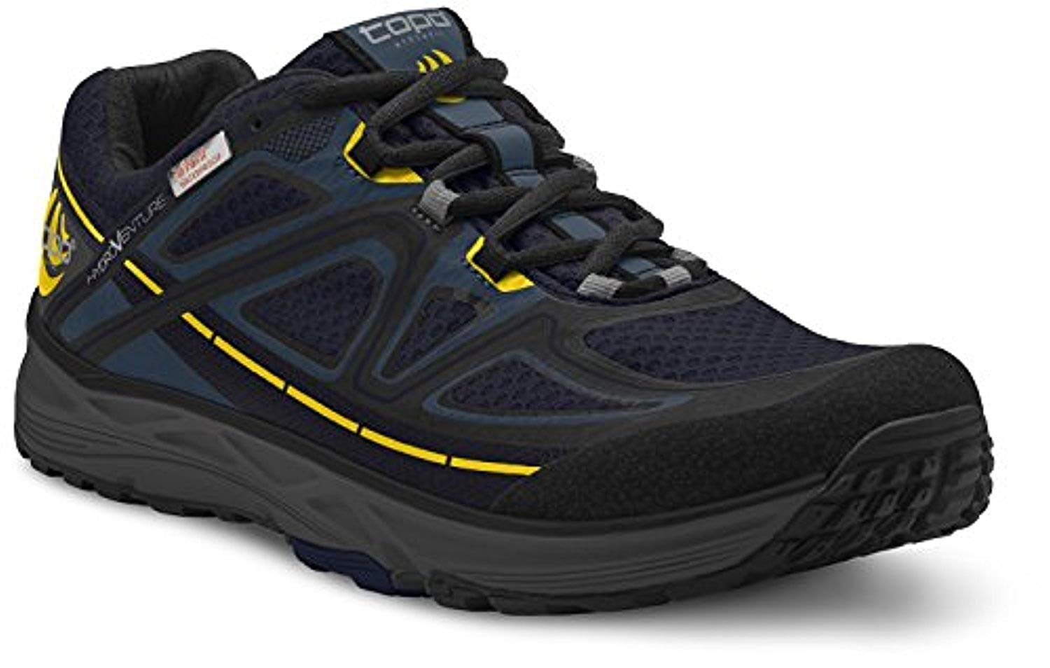 Topo Men's Hydroventure Trail Running Shoes Navy/Black 10.5 & Headband