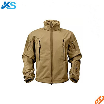 Soft Shell Jacket 100% Polyester Long Sleeve Plain Dyed Arm Softshell Men Hoody Jacket