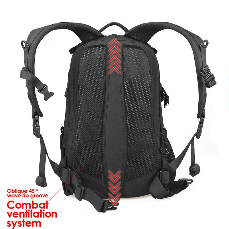 Functional fashion waterproof fabric outdoor sports hiking tactical military backpack bag	CL5-0069