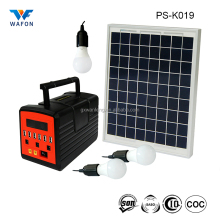 PS-K019 New Arrival Portable 10W 7000mAh Solar Power Home Lighting Kits Mobile Charging Station Generation System