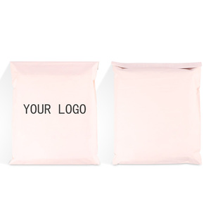 biodegradable eco friendly colorful pink courier envelope mailing postal plastic packaging bag with custom logo
