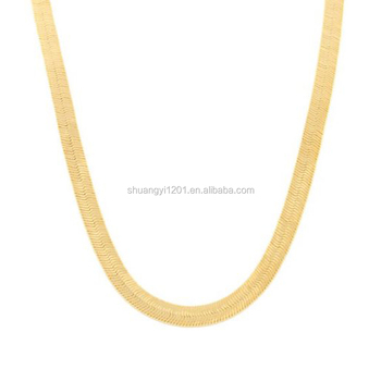 1b21741b2 HUSURU Jewelry Simple Design Flat Gold Snake Chain Necklaces Flexible Silky  Herringbone Necklaces Chains For Women