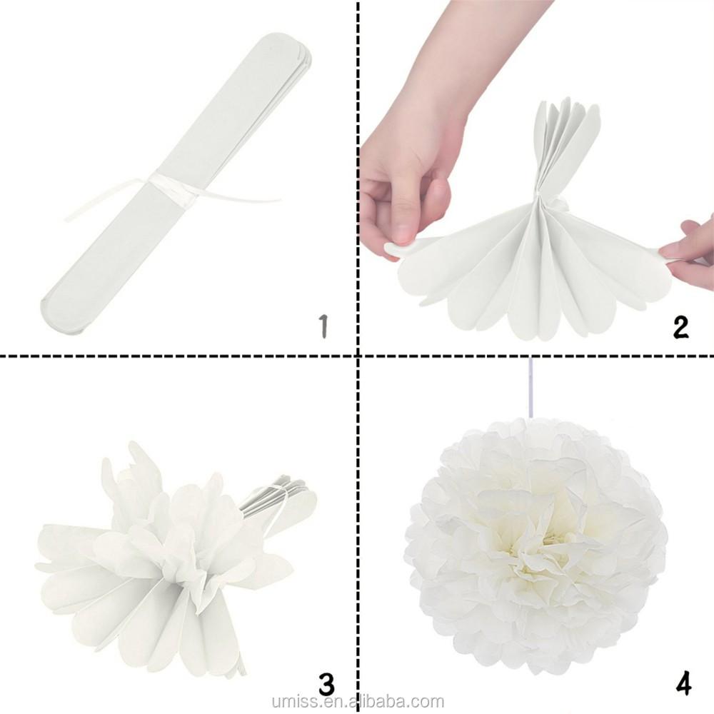 Papier De Soie Pom Poms Fleurs Papier Lanternes Etoiles Guirlande