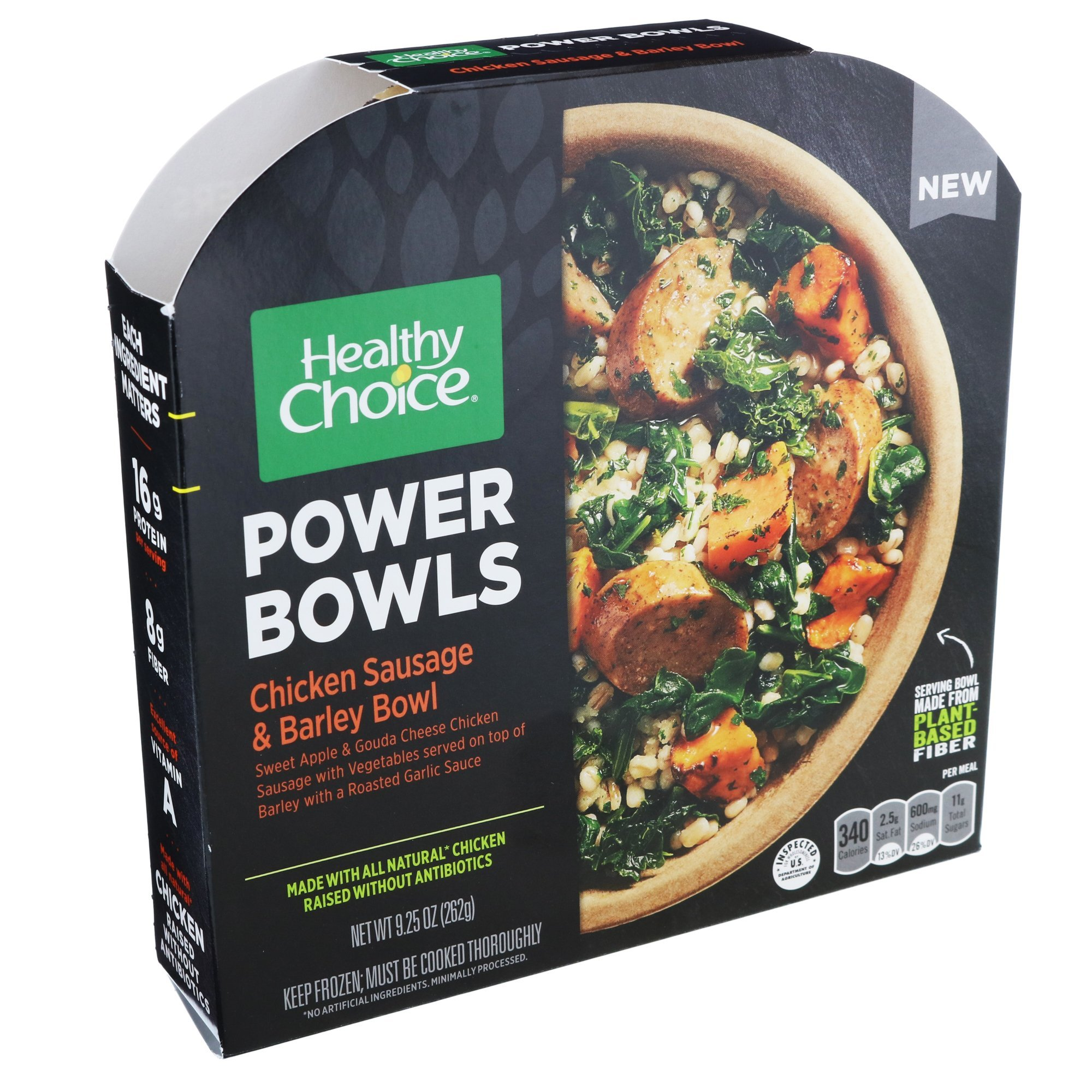 Healthy Choice Chicken Sausage And Barley Power Bowl, 9.25 oz (Pack of 9)