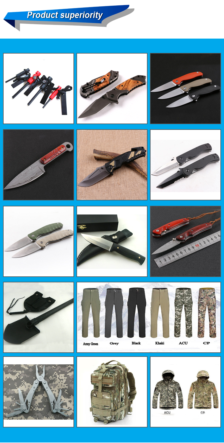 OEM s30v D2 folding handmade damascus folding knife photos