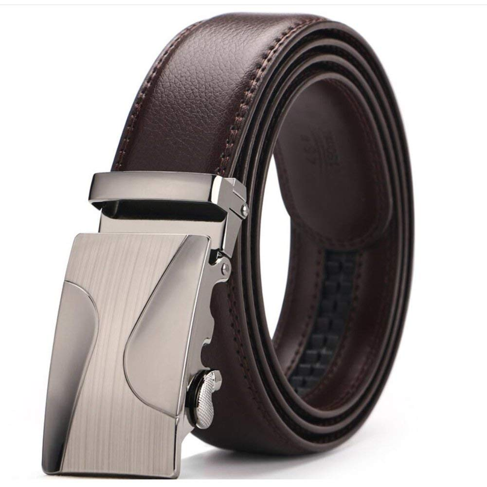 XUEXUE Mens Business Belt Automatic Buckle Belt Adjustable,Casual Work Active Basic Leather,Formal Belts,Casual Wear /& Cowboy Wear /& Work Clothes Uniforms,A,120
