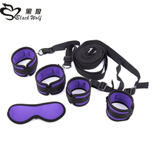 Adult Game sex Bondage kit ,Handcuffs Whip Collar bondage restraint