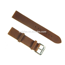 2017 New Design Durable High Grade 19mm Brown Genuine Cowhide Leather Watch Band Strap Stainless Steel Buckle