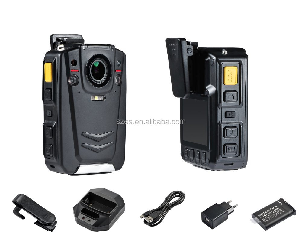Built-in GPS body worn camera 1080P 30fps 4G live view, auto IR Cut