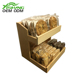 Excellent quality food countertop bread display case shelf rack
