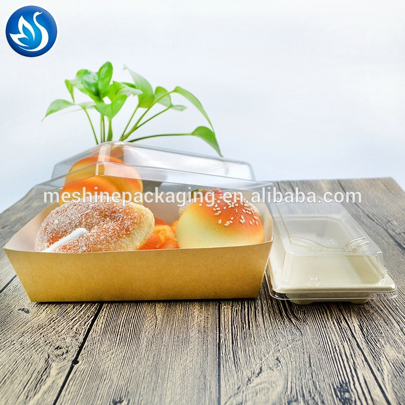 Food grade fast food tray paper packaging tray for cake/hot dog/pasta