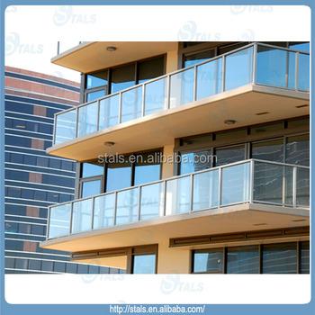 2014 Moderne Aluminium Balkongelander Modedesign Balkon Glas Heisser