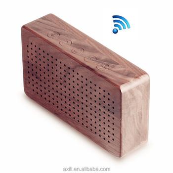 nature luxury wood bluetooth speaker block pure walnut bamboo wood, Bathroom decor
