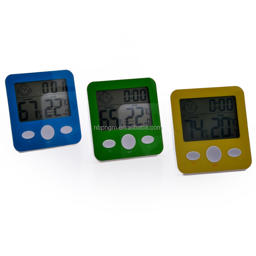 Time Display Digital Thermometer & Humidity Meter Hygrometer