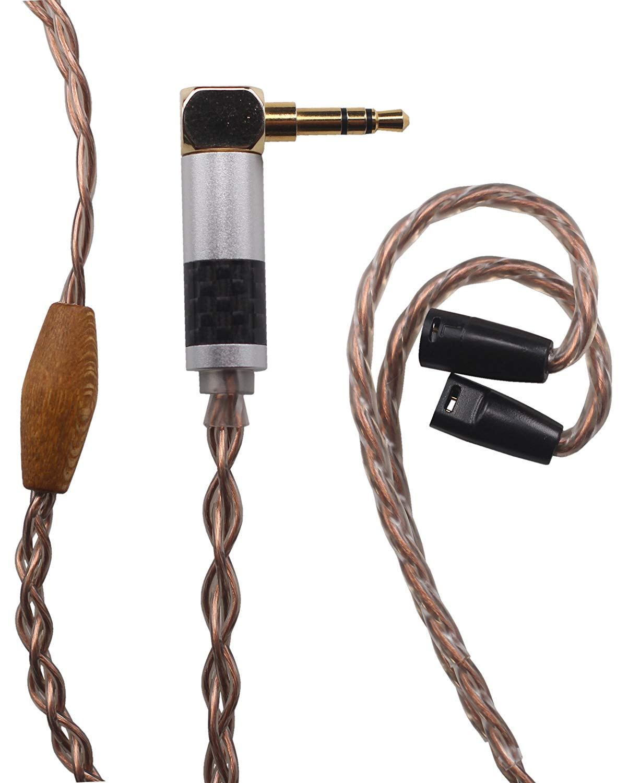 KK Cable AZ-U Compatible Upgrade Audio Cable Replacement for Earphone Cable IE8, IE80, IE8i, IE80S Headphones, 3.5mm (L-Shaped Plugs) Male. AZ-U. (3.9ft (1.2M))