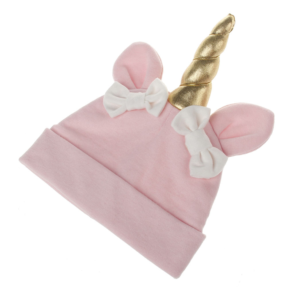 Different types of caps baby x small girl hot knit unicorn hat bow cap