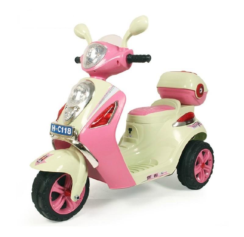 rosa farbe kunststoff 6v kind elektrisches motorrad. Black Bedroom Furniture Sets. Home Design Ideas