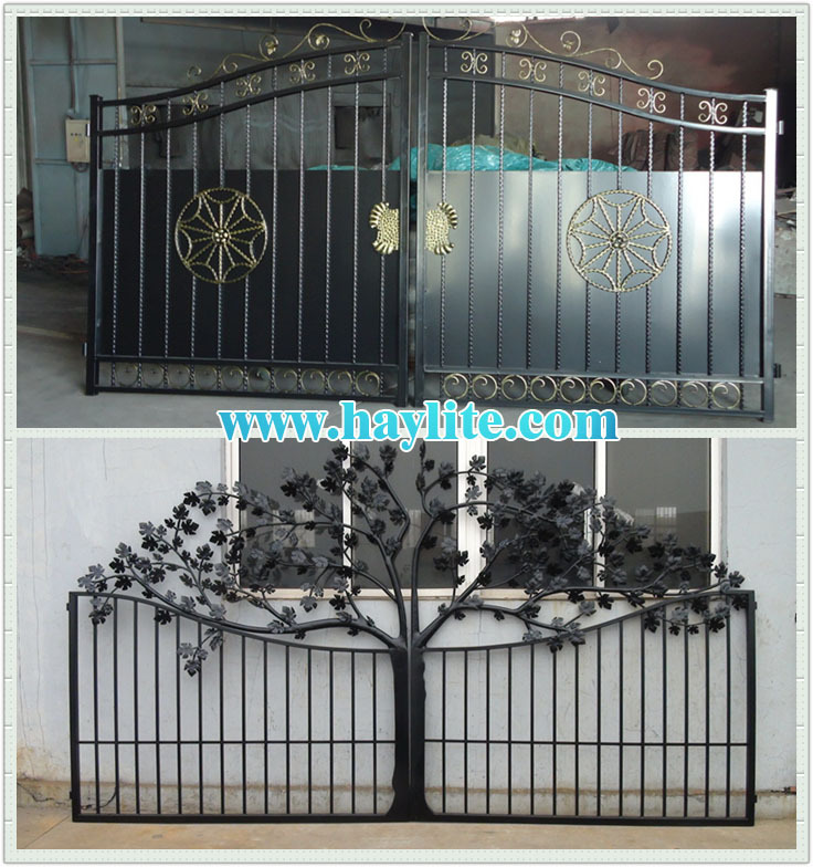 Beautiful Iron Sliding Door Gate And Fence Paint Colors