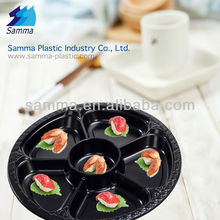 Plastic Blister Round Large Black Colour Food Tray