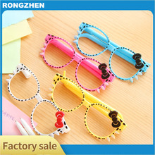 South Korea creative stationery wholesale cute cartoon KT cat bow glasses pen writing ballpoint pen