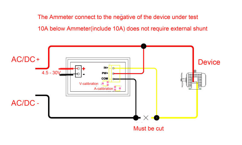 Geree Digital Dc Voltmeter Ammeter Volt Amp Meter 0