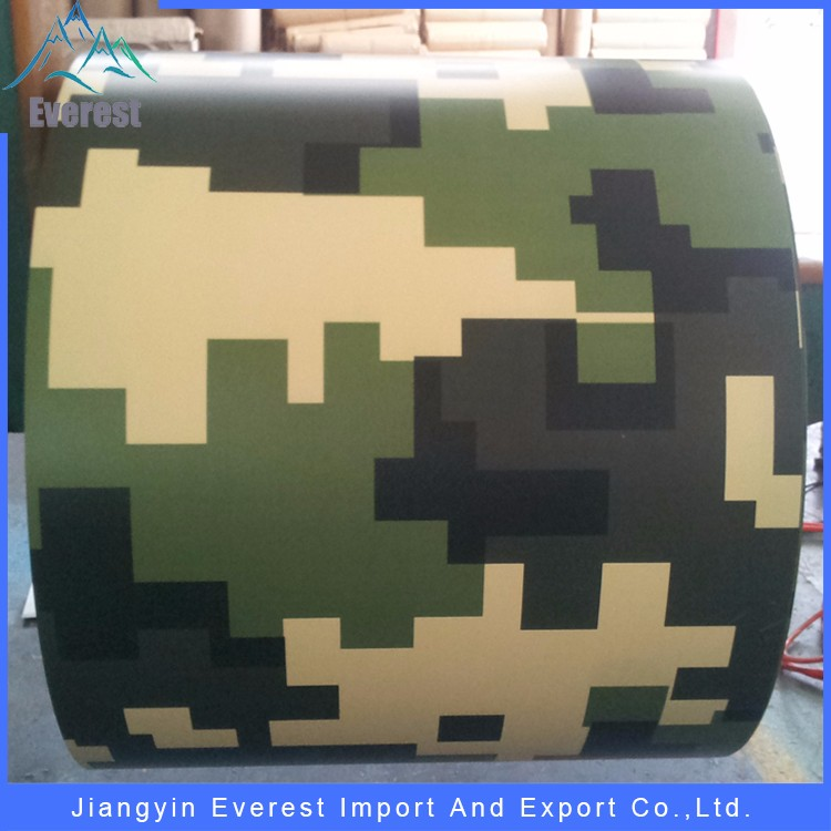 Camouflage pattern prepainted ral 9002 ppgi with thickness 0.2-1mm steel coil