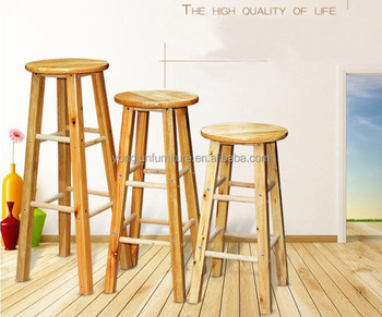 Wooden Round Ottoman chairSimple Round Bar Wooden High Chair or Bar Stools & Wooden Round Ottoman ChairSimple Round Bar Wooden High Chair Or ... islam-shia.org
