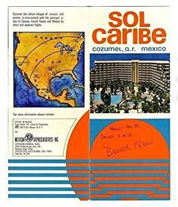 Sol Caribe Hotel Brochure Cozumel Quintana Roo Mexico 1970's