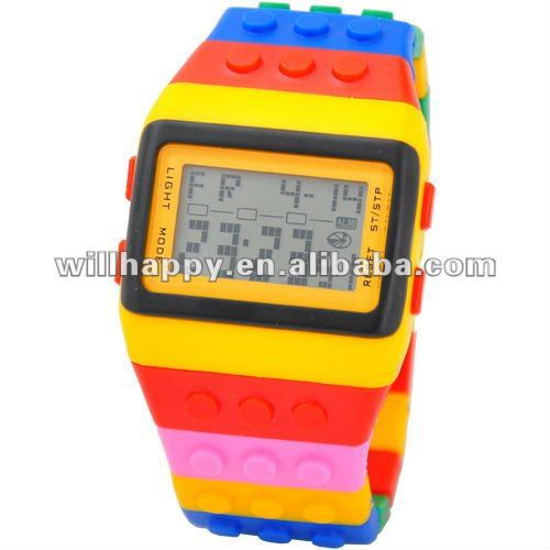 New style silicone quartz rainbow watch jelly(SW-322)