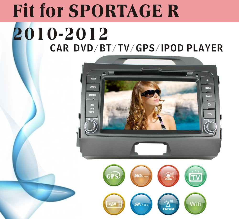 user manual car dvd player fit for Kia Sportage 2010 - 2012 with radio bluetooth gps tv