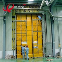 High frequency motor system high speed PVC stainless steel industrial interior roller shutter door